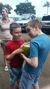 DRINKING COCONUT WATER!!!!!!!!!!